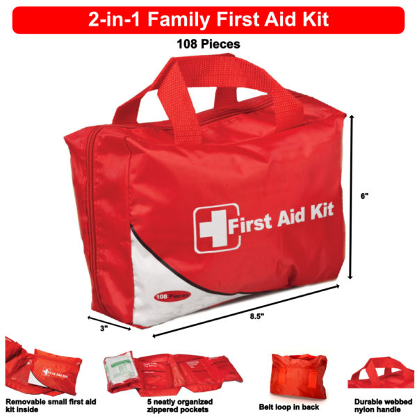 2-in-1 Family First Aid Kit FAK4100
